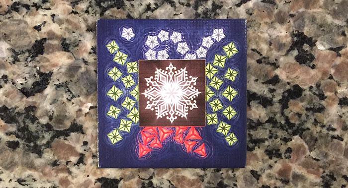 Lanterns Winter platform tile