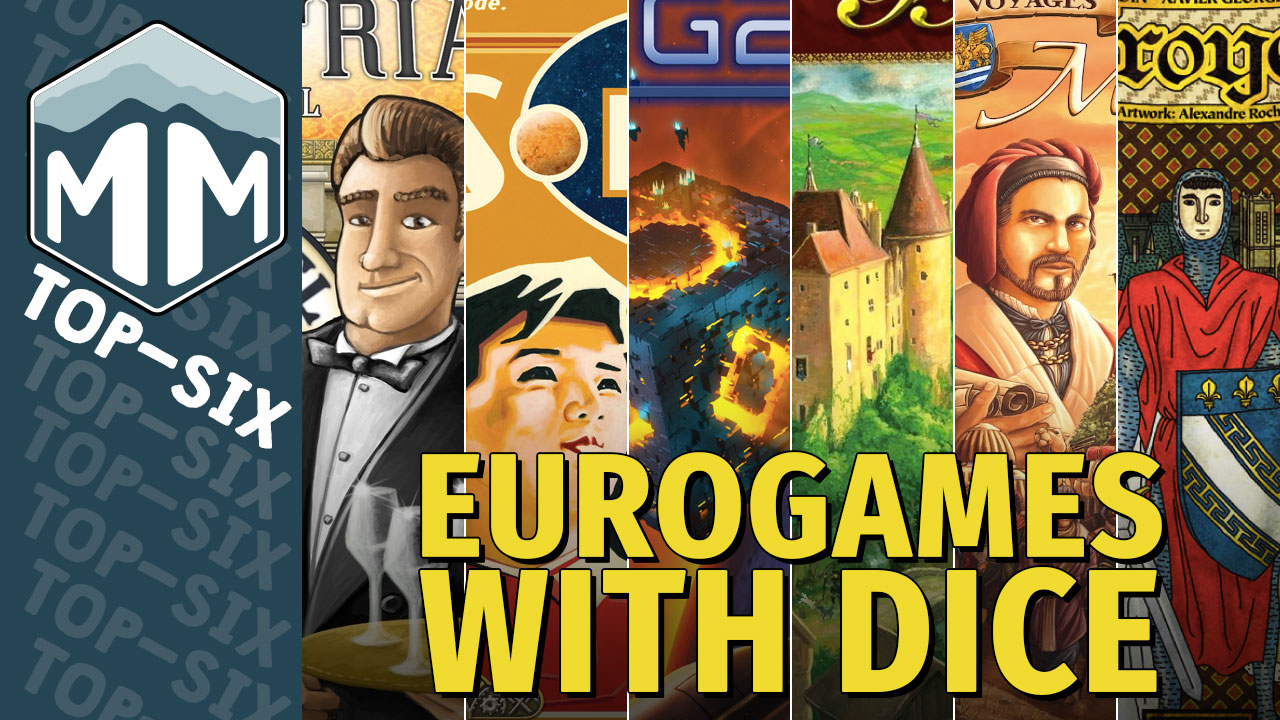 Top 6 Eurogames with Dice