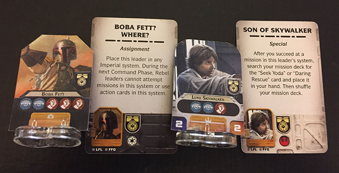 Star Wars: Rebellion - recruit leaders