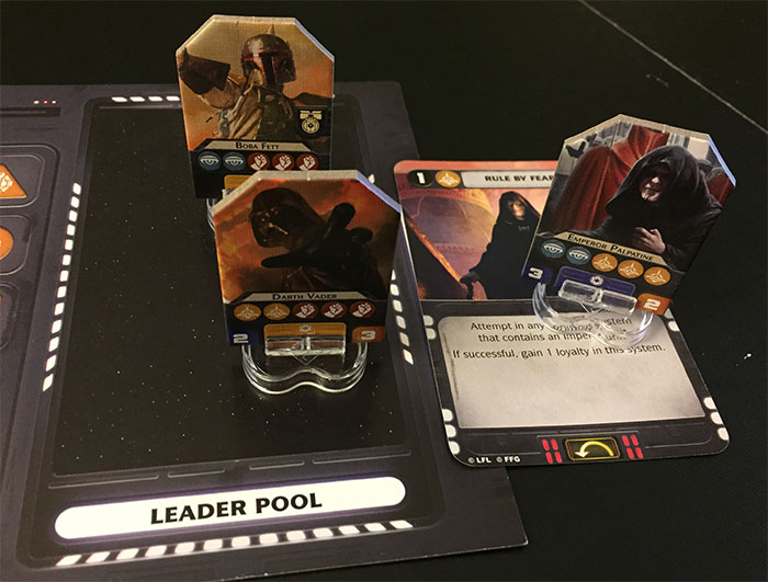Star Wars: Rebellion - leader pool