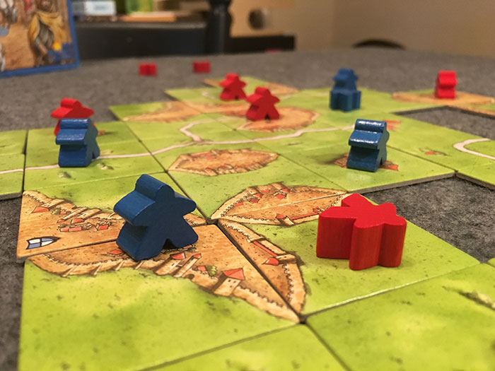 Carcassonne game setup