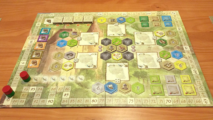 Castles of Burgundy main board