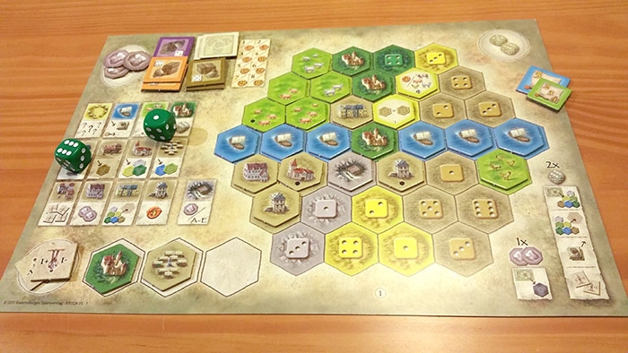 Castles of Burgundy player board