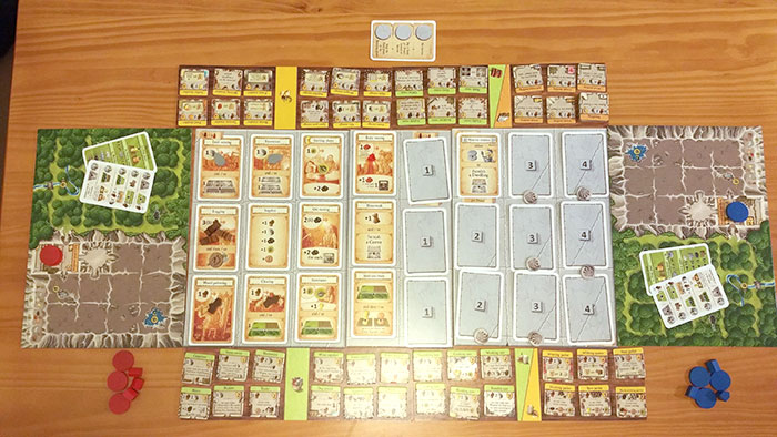 Caverna action selection board