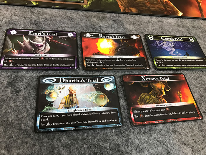Event cards