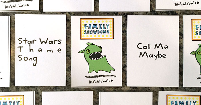 Family Showdown - blobblobblob cards