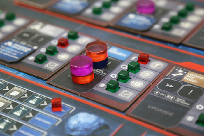 First Martians: Adventures on the Red Planet game board closeup