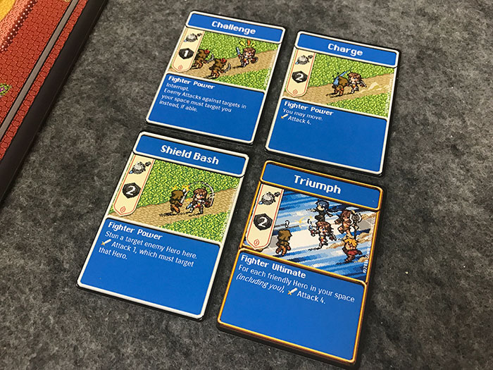 Hero action cards