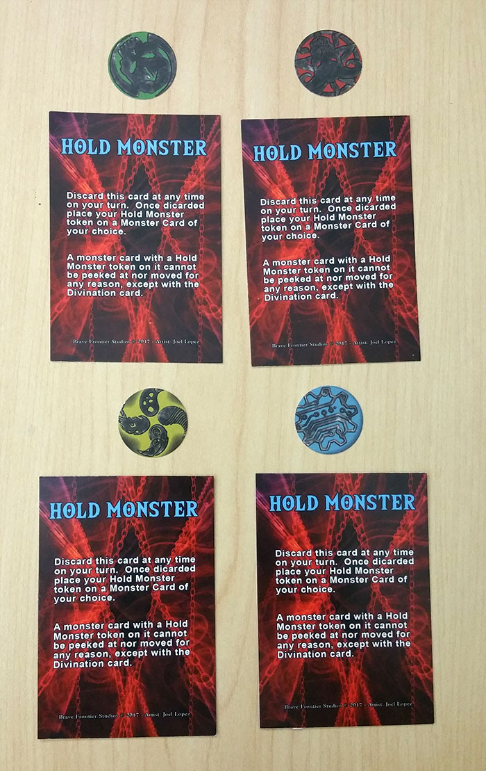 Hold Monster cards and tokens