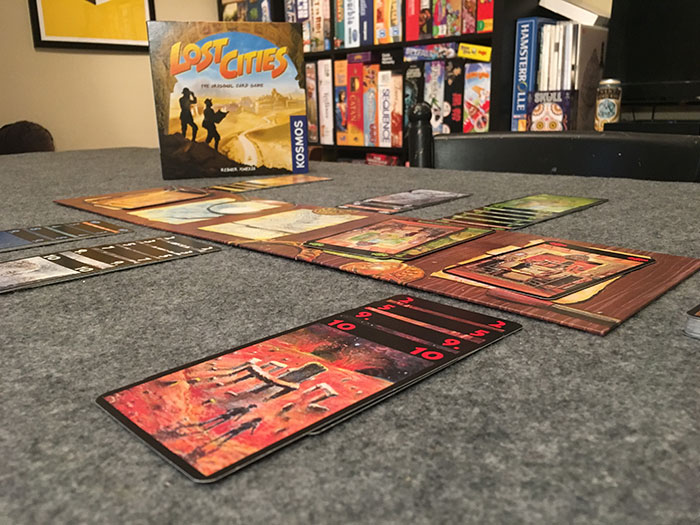 Lost Cities game setup