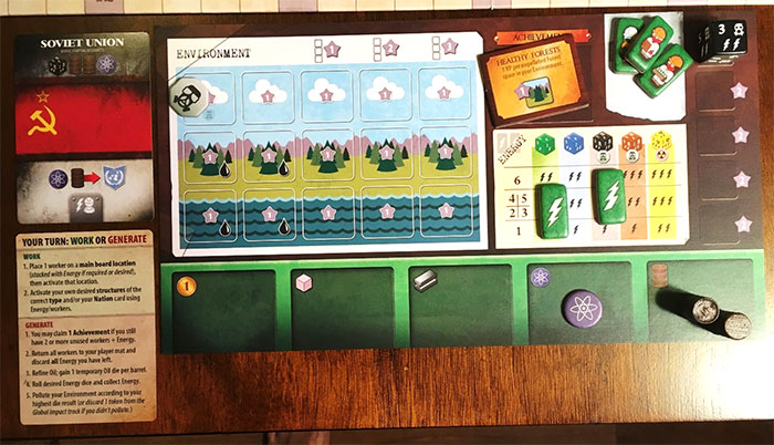 Manhattan Project: Energy Empire full player board