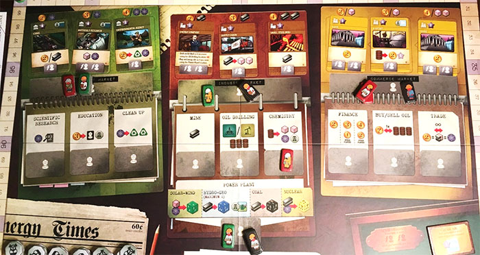 Manhattan Project: Energy Empire game board