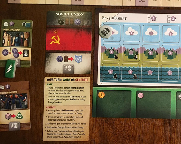 Manhattan Project: Energy Empire player board