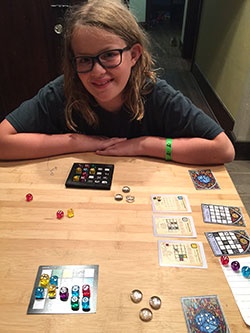 My daughter Noelle playing Sagrada