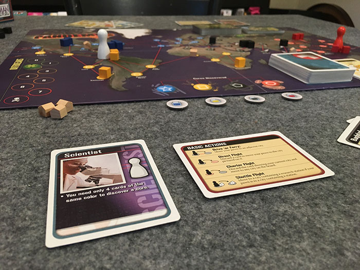 Pandemic game setup