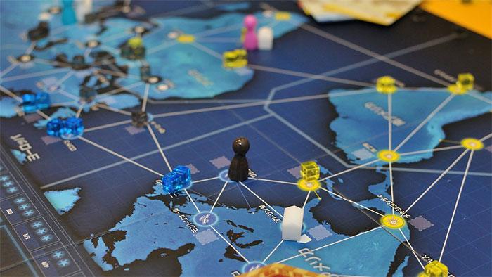 Pandemic Legacy board