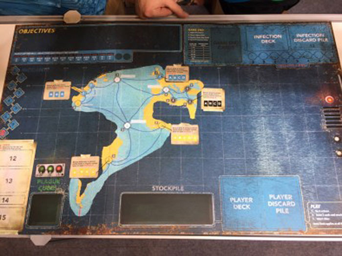 Pandemic Legacy: Season 2 board