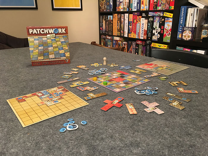 Patchwork game setup