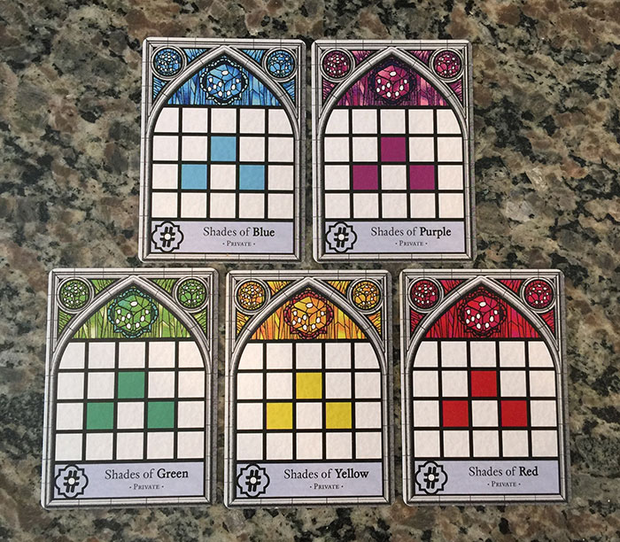 Sagrada private objective cards