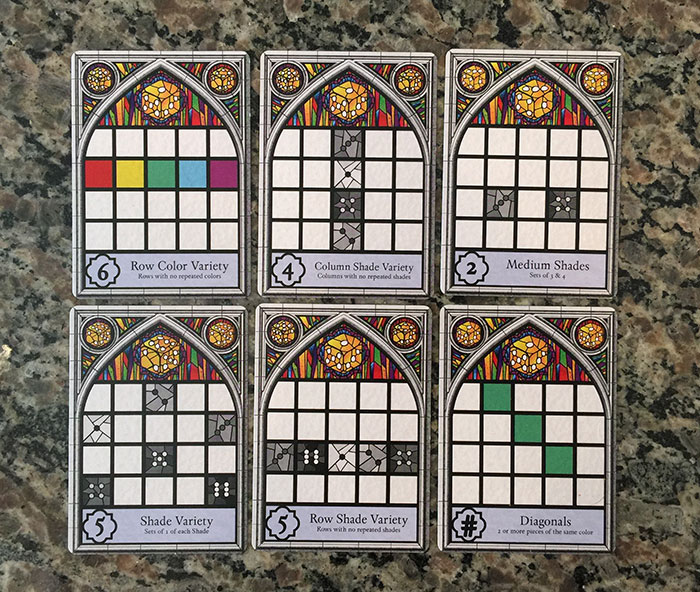 Sagrada public objective cards