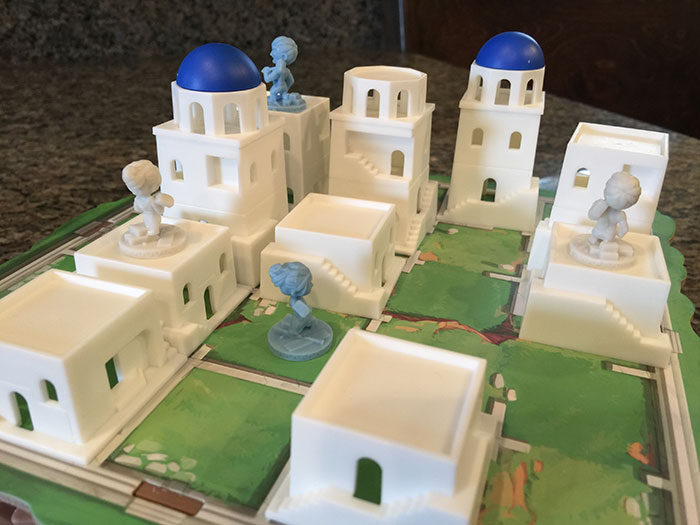 Santorini game board