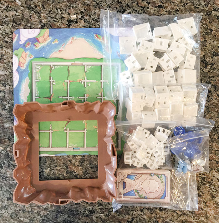 Santorini box contents