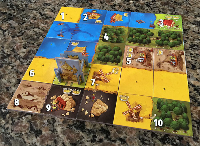 Kingdomino scoring example