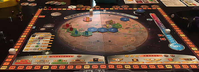 Terraforming Mars mid-game play