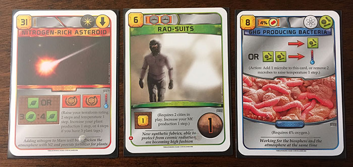 Terraforming Mars - more action cards