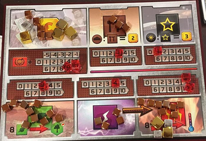Terraforming Mars player board