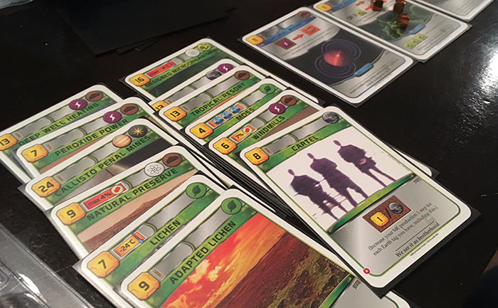 Terraforming Mars player tableau