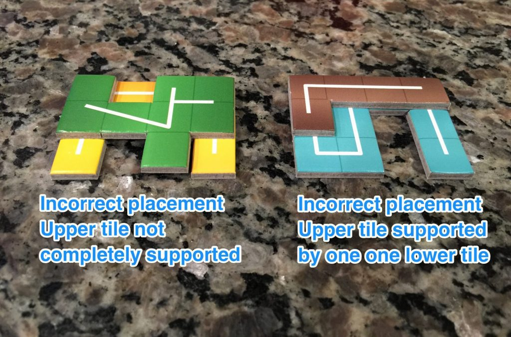 Examples of incorrect tile stacking