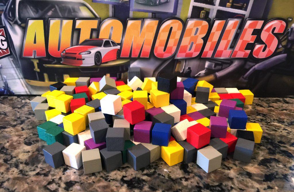 Automobiles cube pile