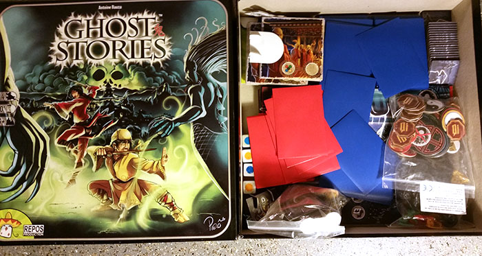 Ghost Stories and its expansion White Moon sleeved and in one box together with plenty of extra space.