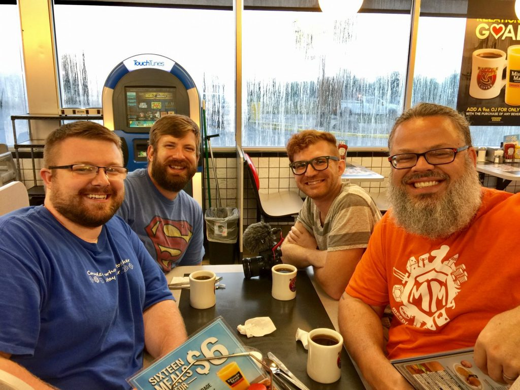 Breakfast with the Meeple Mountain team