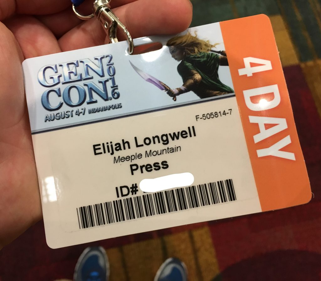 Gen Con badge