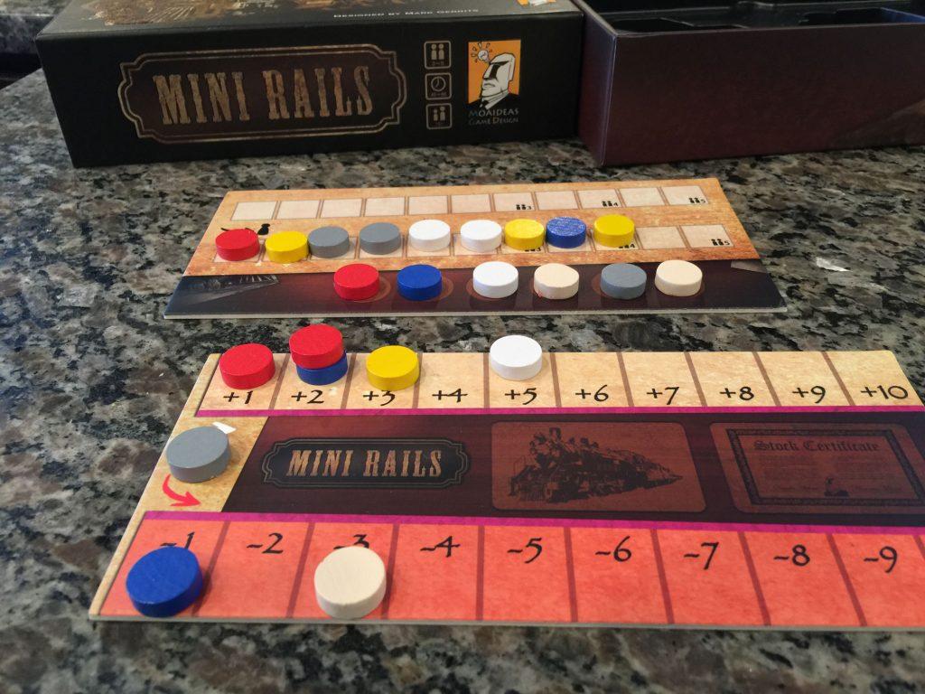 Mini Rails player board scoring