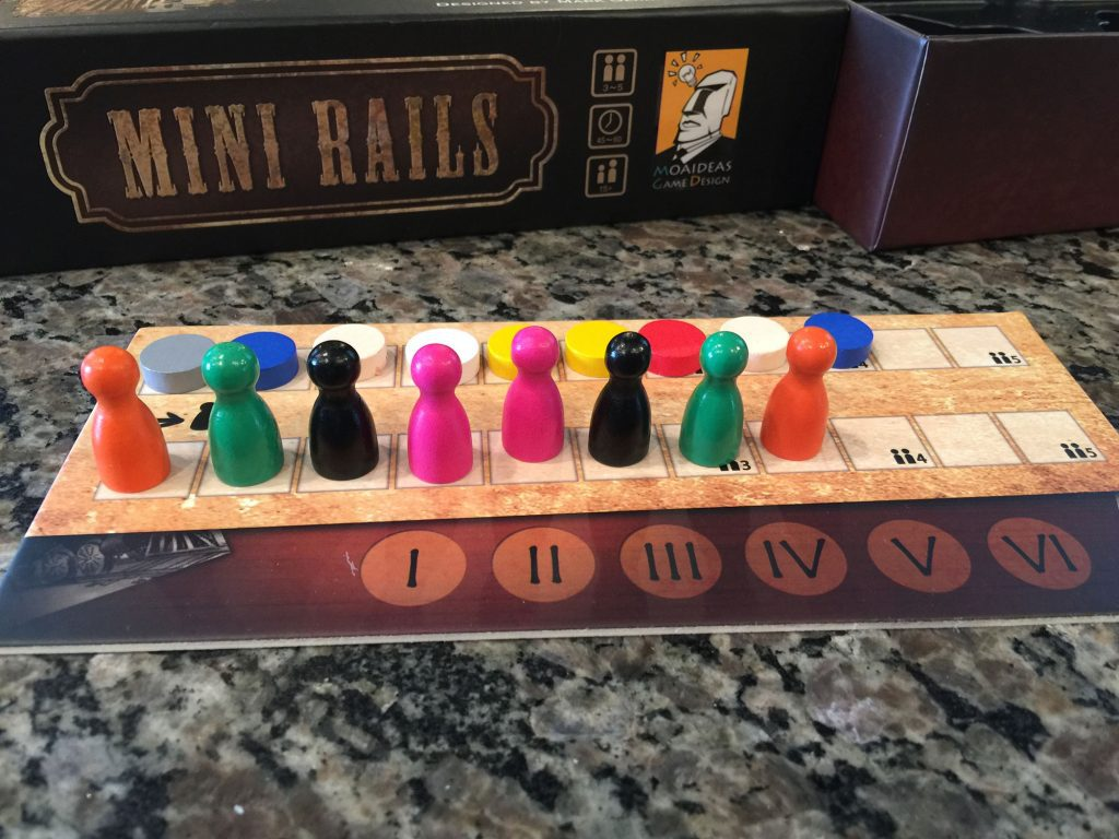 Mini Rails turn order board