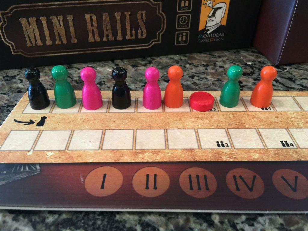 Mini Rails turn order board - end of round