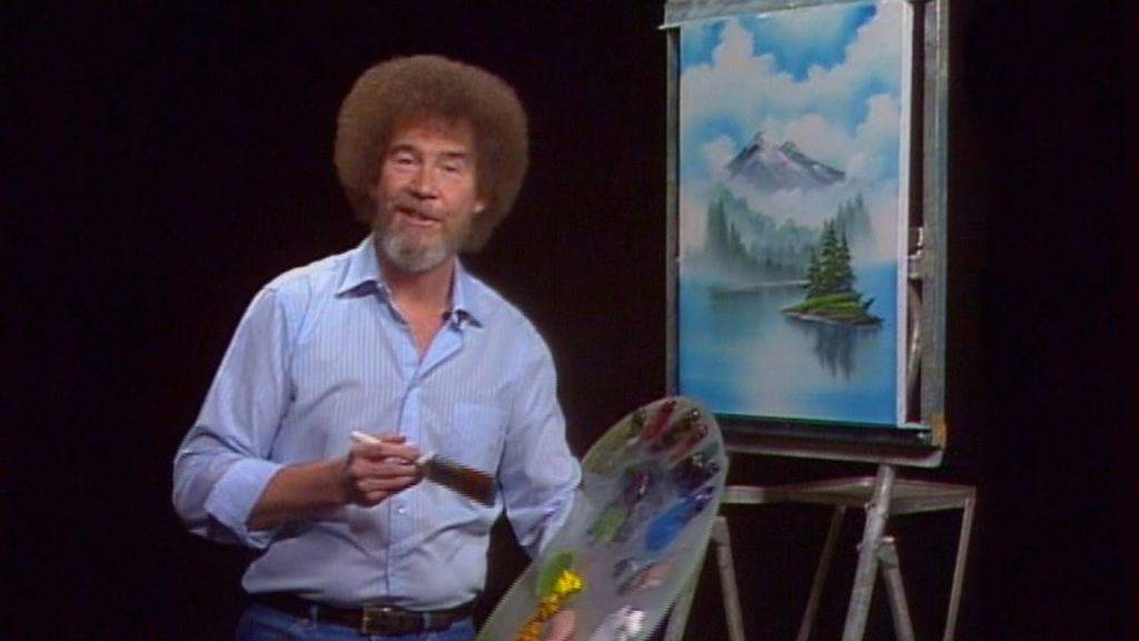 Bob ross the art of chill review happy little trees for Ross craft show 2017