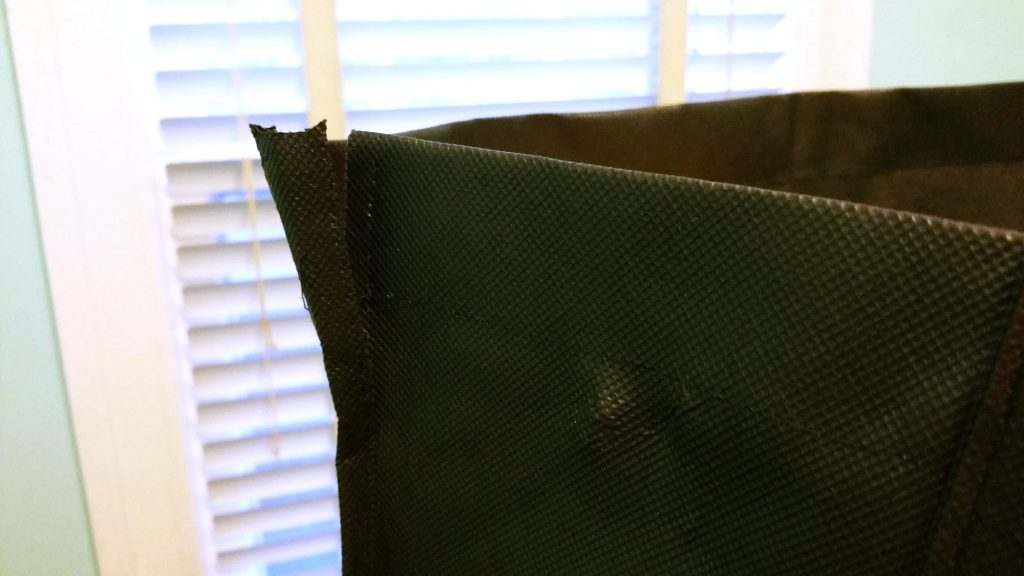 Con Carrier seams are fraying
