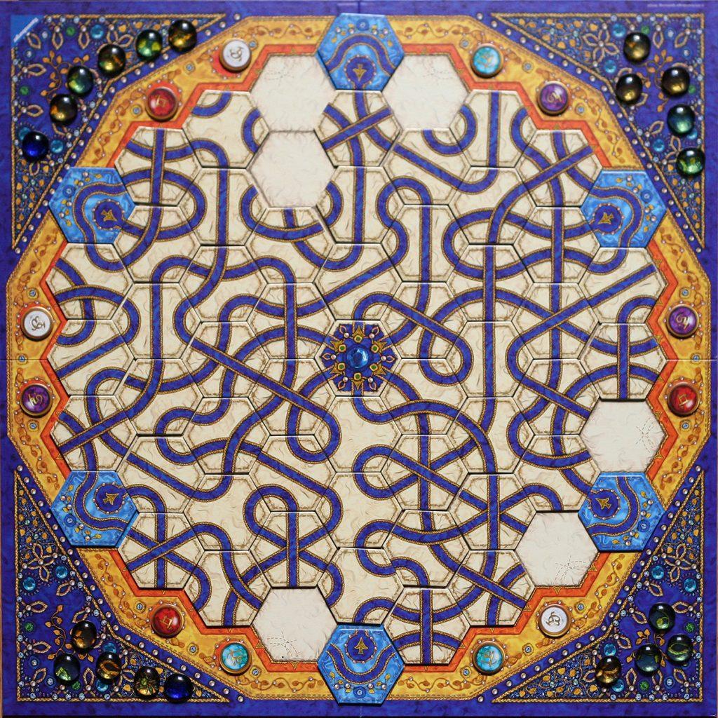 Indigo post tiles