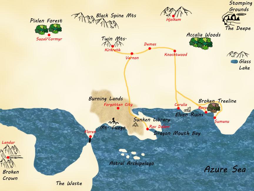 Map in progress