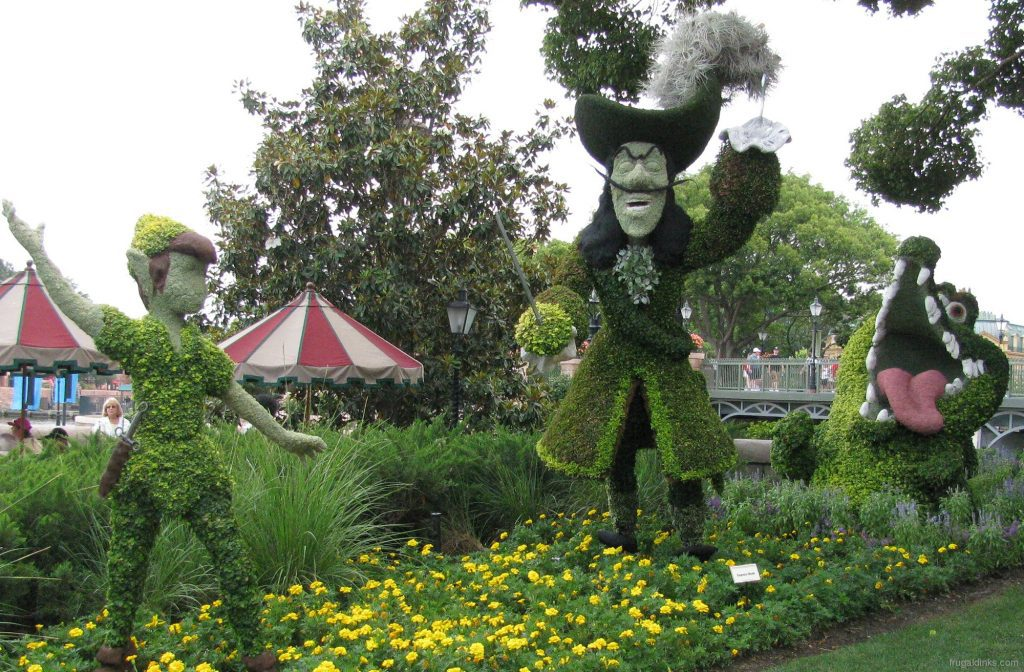 Disney era topiary.