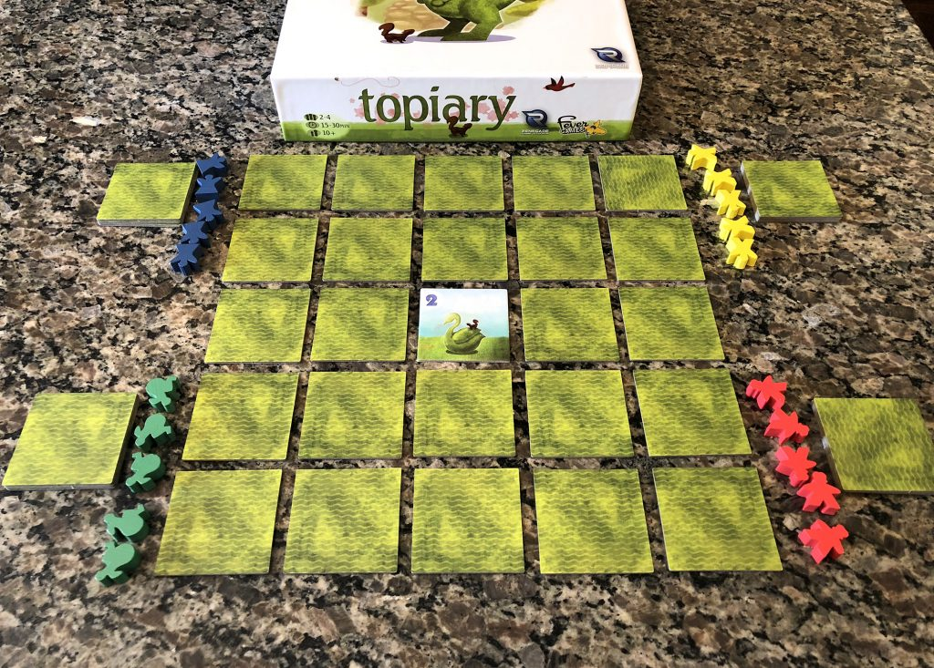Topiary setup for 4 players