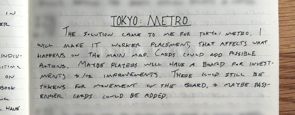 Tokyo Metro change notes