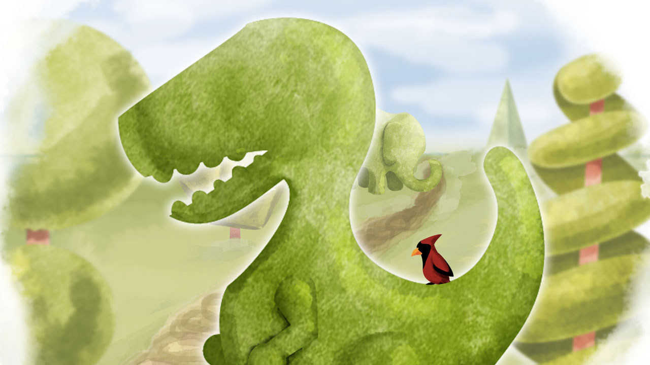 Topiary review header