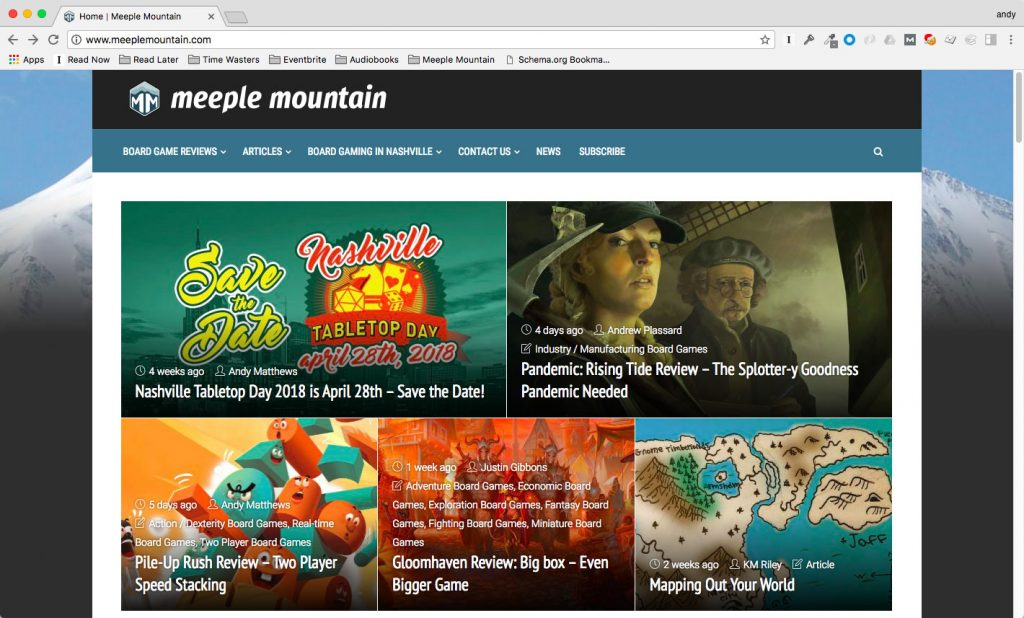 Meeple Mountain homepage