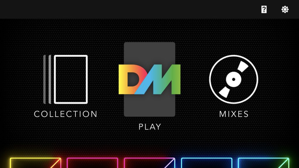 Dropmix main menu