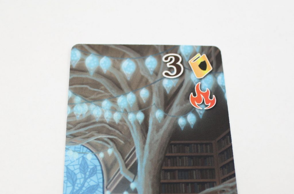 Book card with fire icon